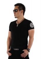 『01 サークルロゴ Tシャツ BLACK&SILVE』