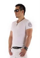 『01 サークルロゴ Tシャツ WHITE&SILVER』