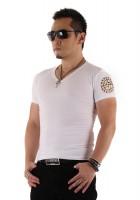 『01 サークルロゴ Tシャツ WHITE&GOLD』
