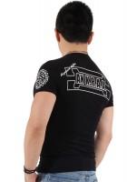 『ホワイトフレーム サークルロゴ プラス バック ブラック Tシャツ』