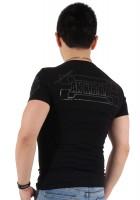『ブラックフレーム サークルロゴ プラス バック ブラック Tシャツ』