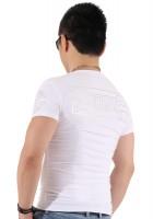 『シルバーフレーム サークルロゴ プラス バック ホワイト Tシャツ』