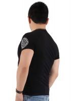 『ホワイトフレーム サークルロゴ ブラック Tシャツ』