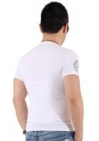 『ブラックフレーム サークルロゴ ホワイト Tシャツ』